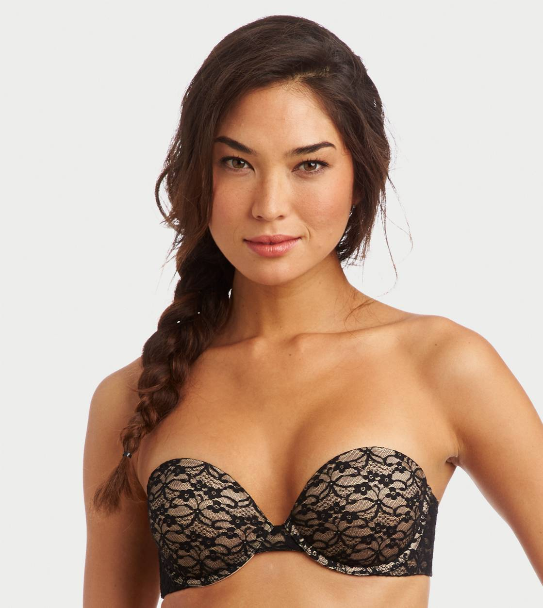 True Black Mia Vintage Lace Multi-Way Pushup Bra