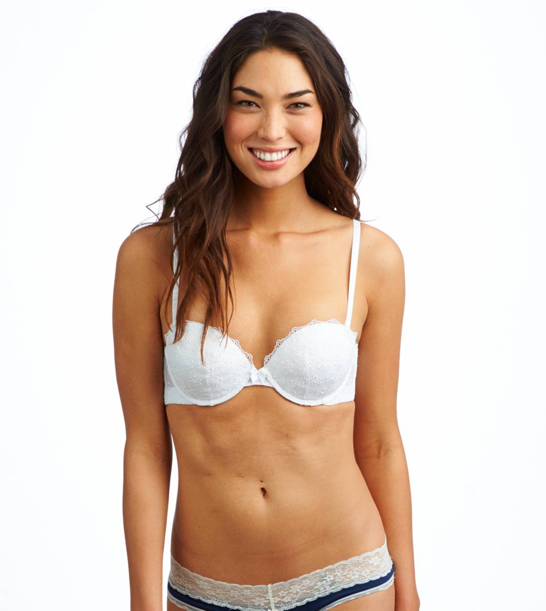 White  Mia Eyelet Pushup Bra