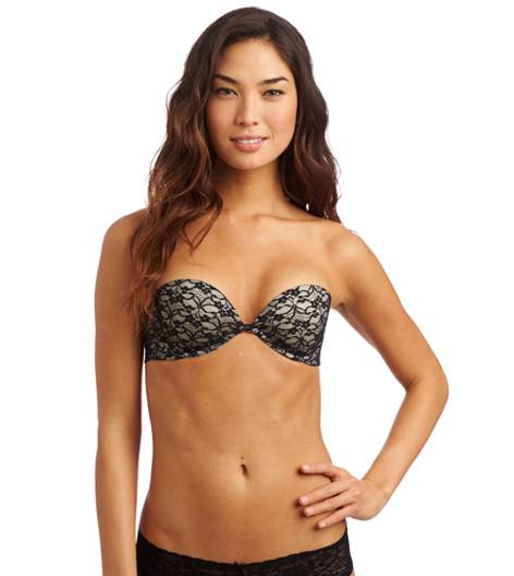True Black Abigail Multi-Way Vintage Lace Pushup Bra