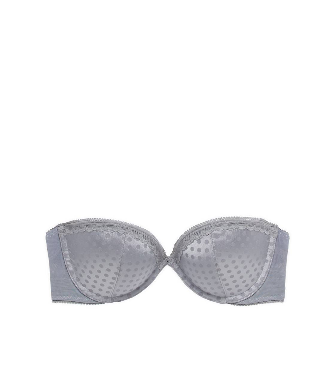 Slab Grey Abigail Multi-Way Pushup Bra