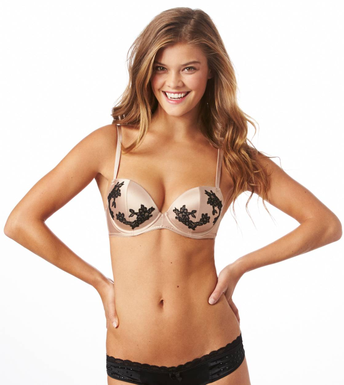 Shimmer Reese Lace Applique Pushup Bra