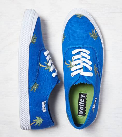 Blue Volley O.C. Palm Tree Sneaker