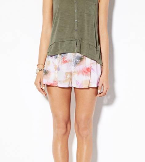 Tropical Coral AE Printed Soft Short