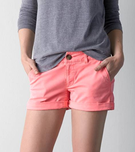 Knockout Pink AEO Midi Short