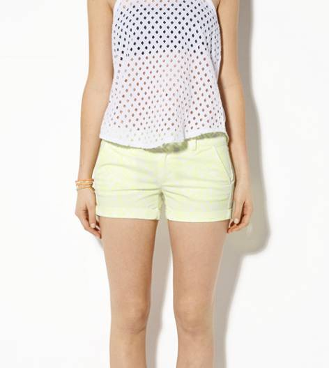 Yellow AEO Rolled Midi Short