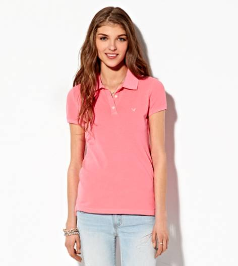 Pink AE Short Sleeve Polo