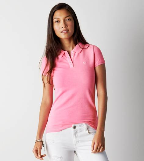 Neon Pink AE Short Sleeve Polo