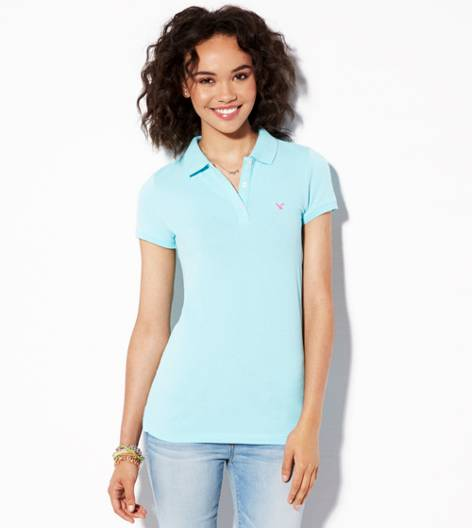 Dream Blue AE Short Sleeve Polo