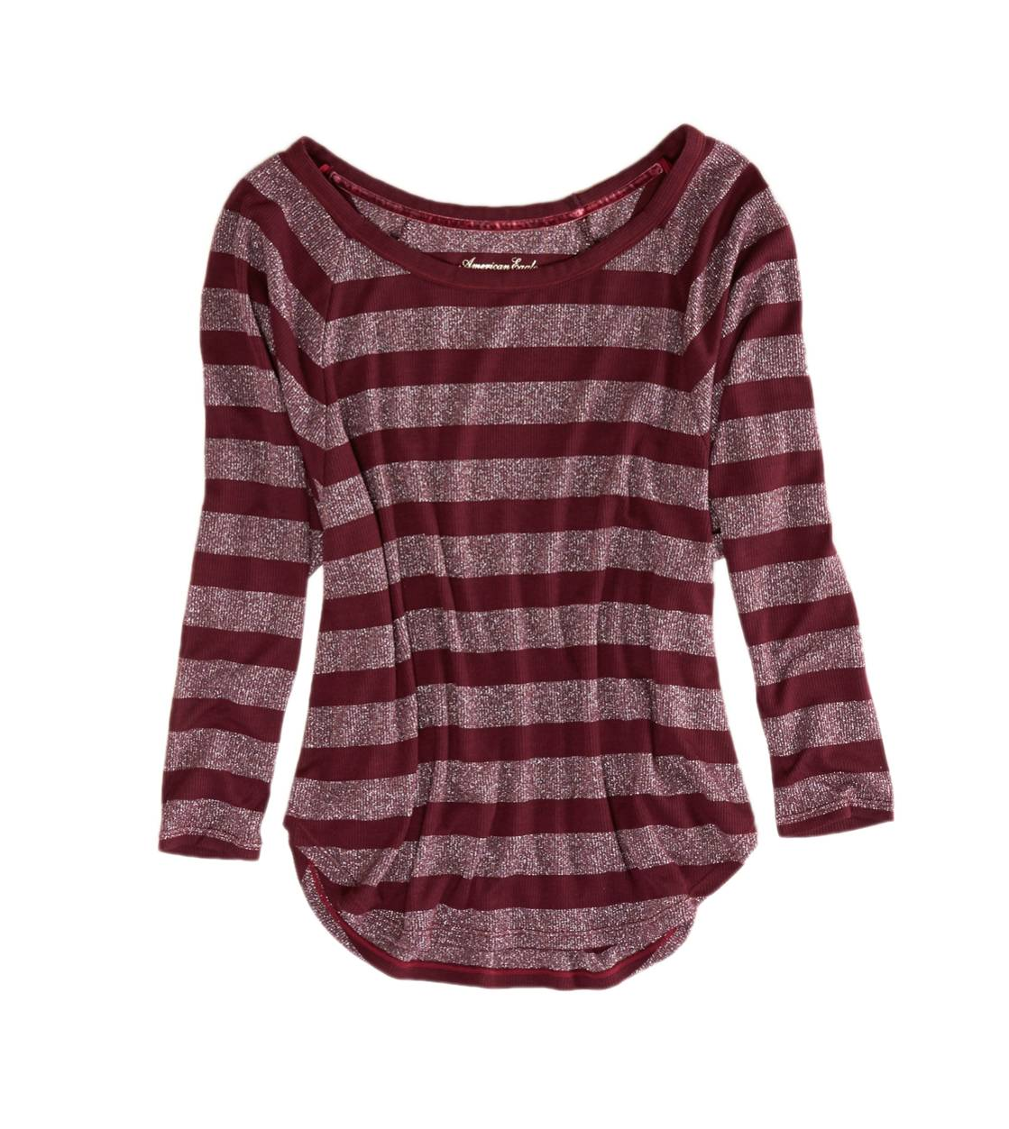 Square Root AE Shine Striped Dolman T-Shirt