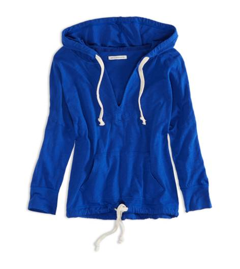Electric Cobalt AE Cropped Hoodie T-Shirt