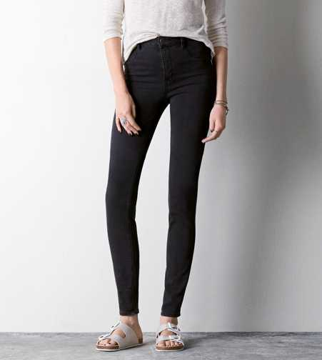 Sky High Jegging - Faded Black