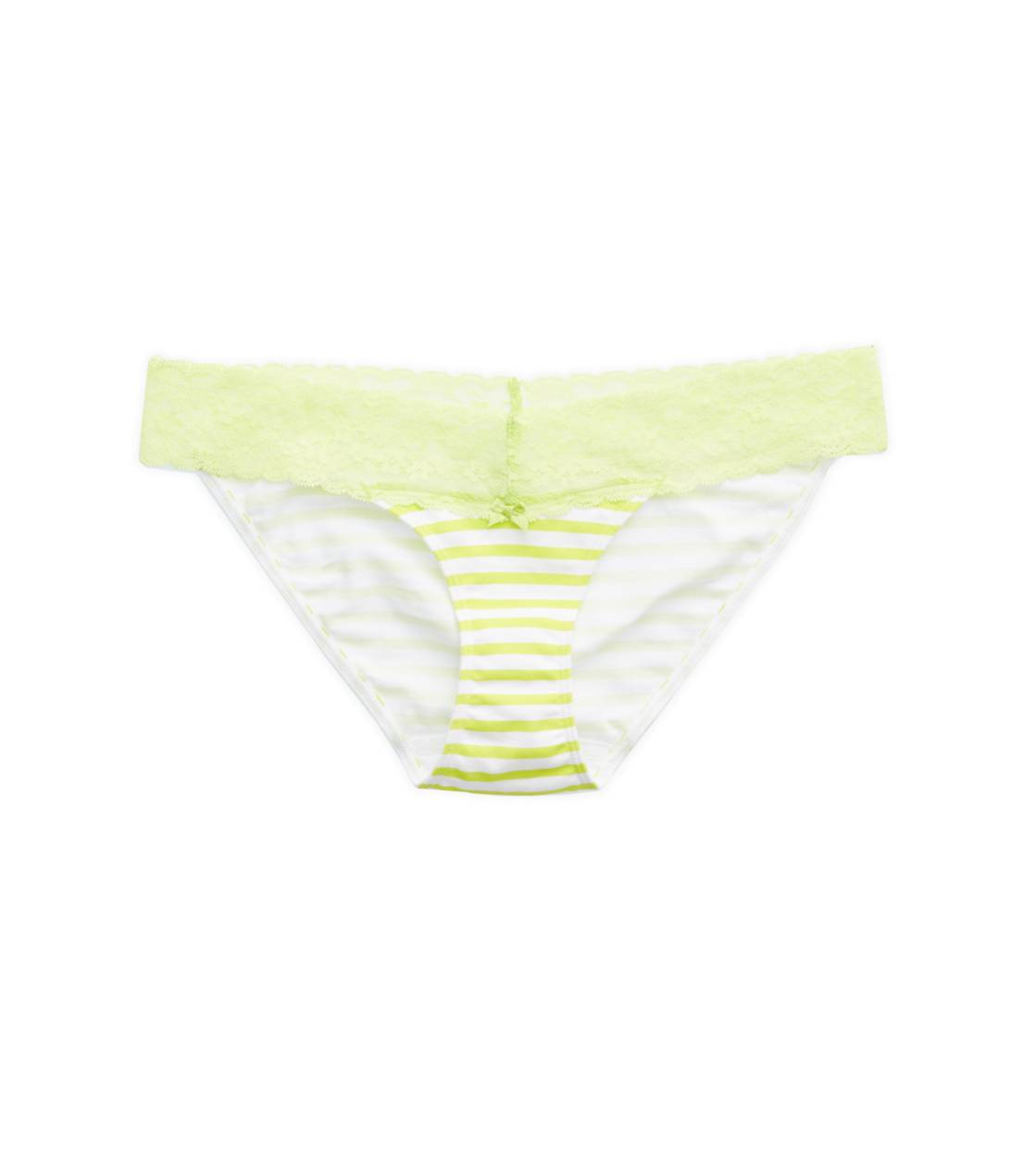 Lime Punch Aerie Lace Trim Bikini