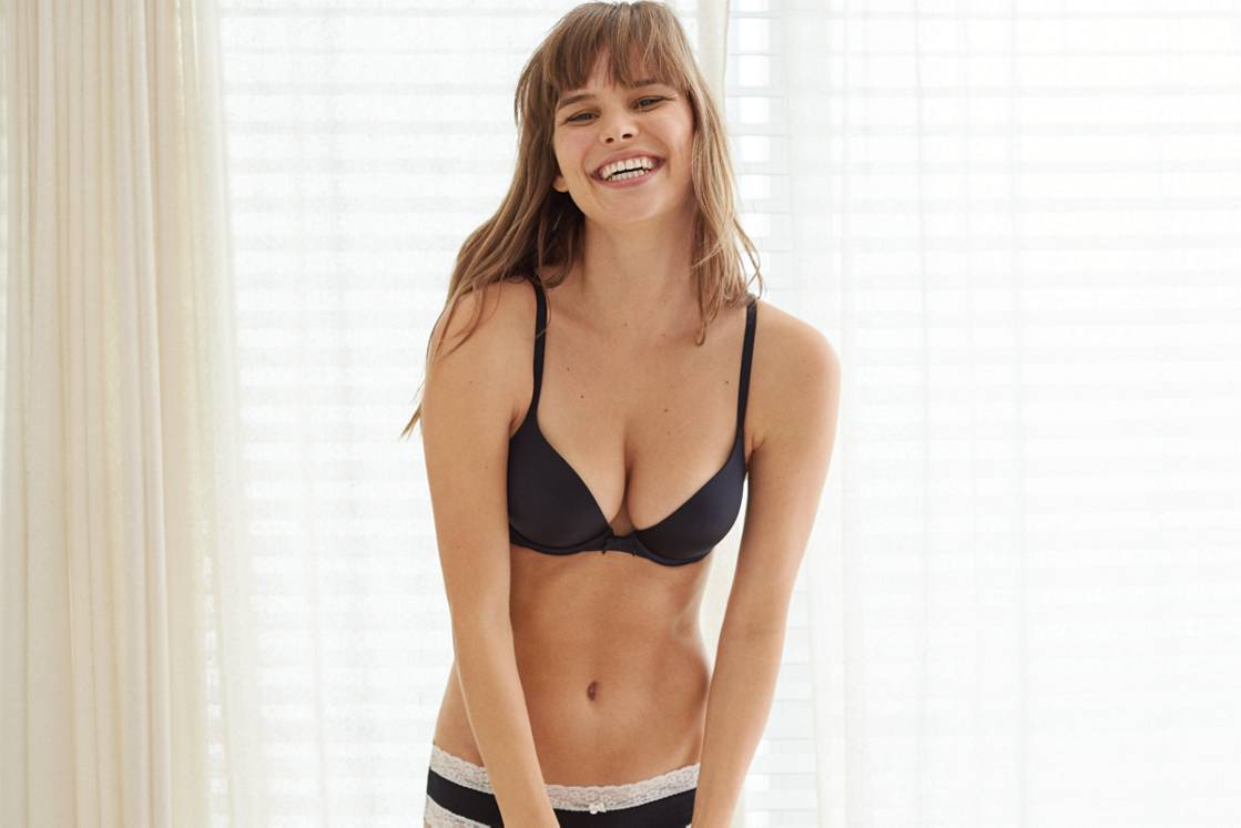True Black Brooke Pushup Bra