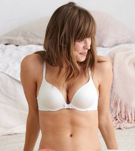 White  Brooke Pushup Bra