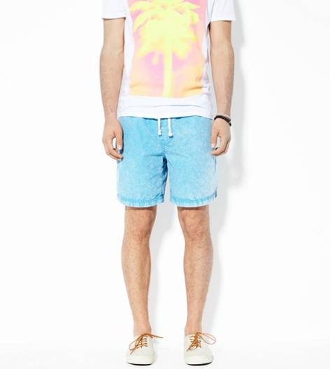 Blue AEO Contrast Pocket Short