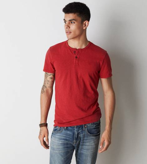 Red Dust AEO Legend Henley T-Shirt