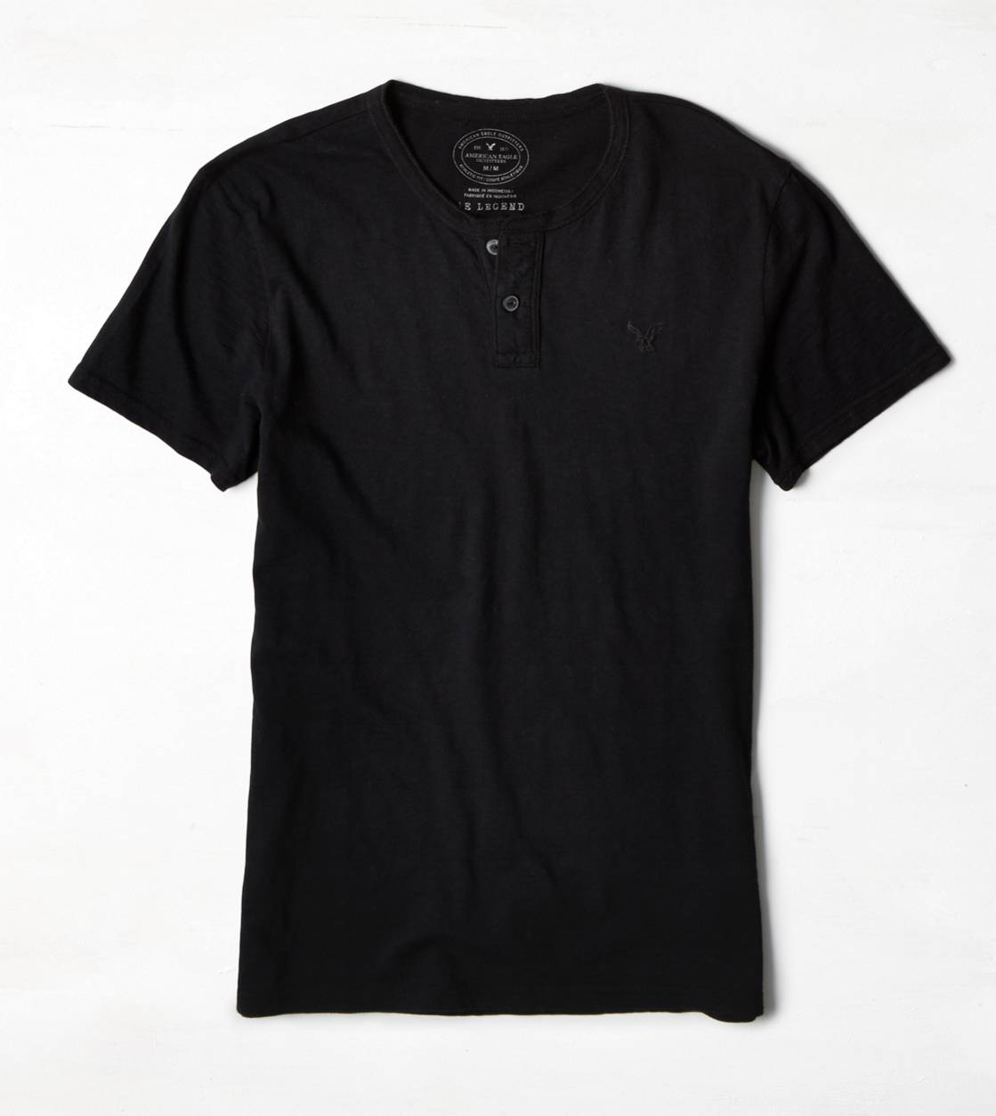 Black AE Legend Henley T-Shirt