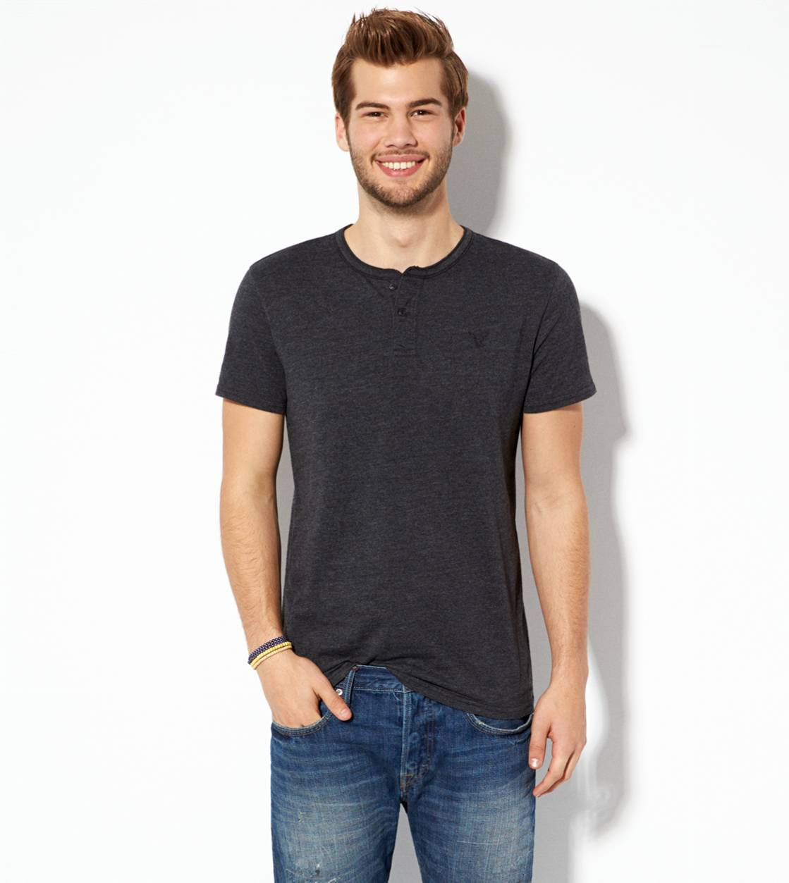 Storm Heather AE Legend Henley T-Shirt