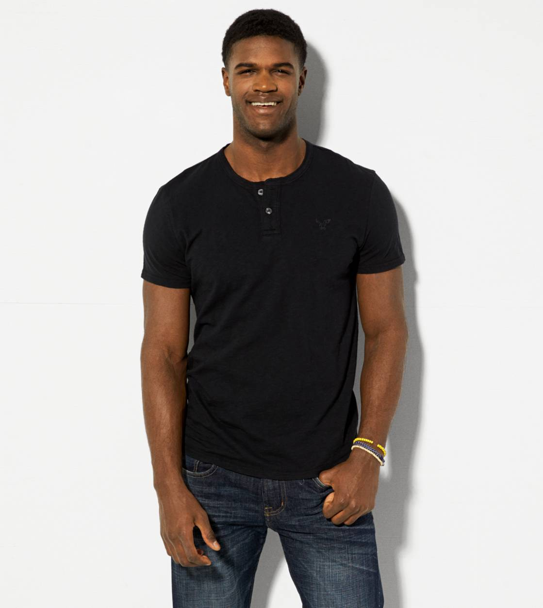 True Black AE Legend Henley T-Shirt