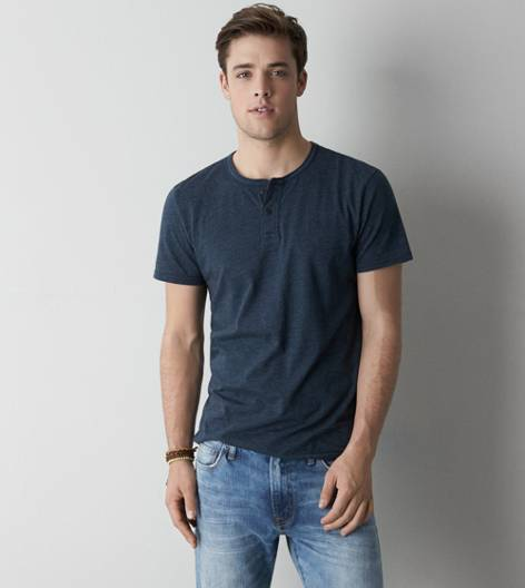 Thunder Teal AEO Legend Henley T-Shirt