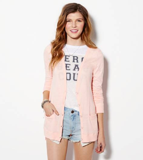 Blush AE Lightweight Boyfriend Cardigan