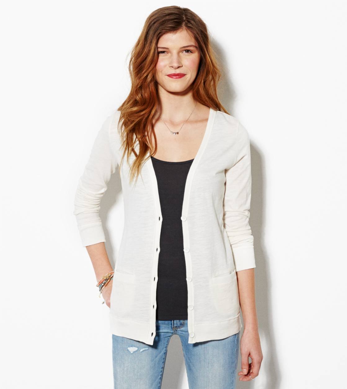 Chalk AE Lightweight Boyfriend Cardigan