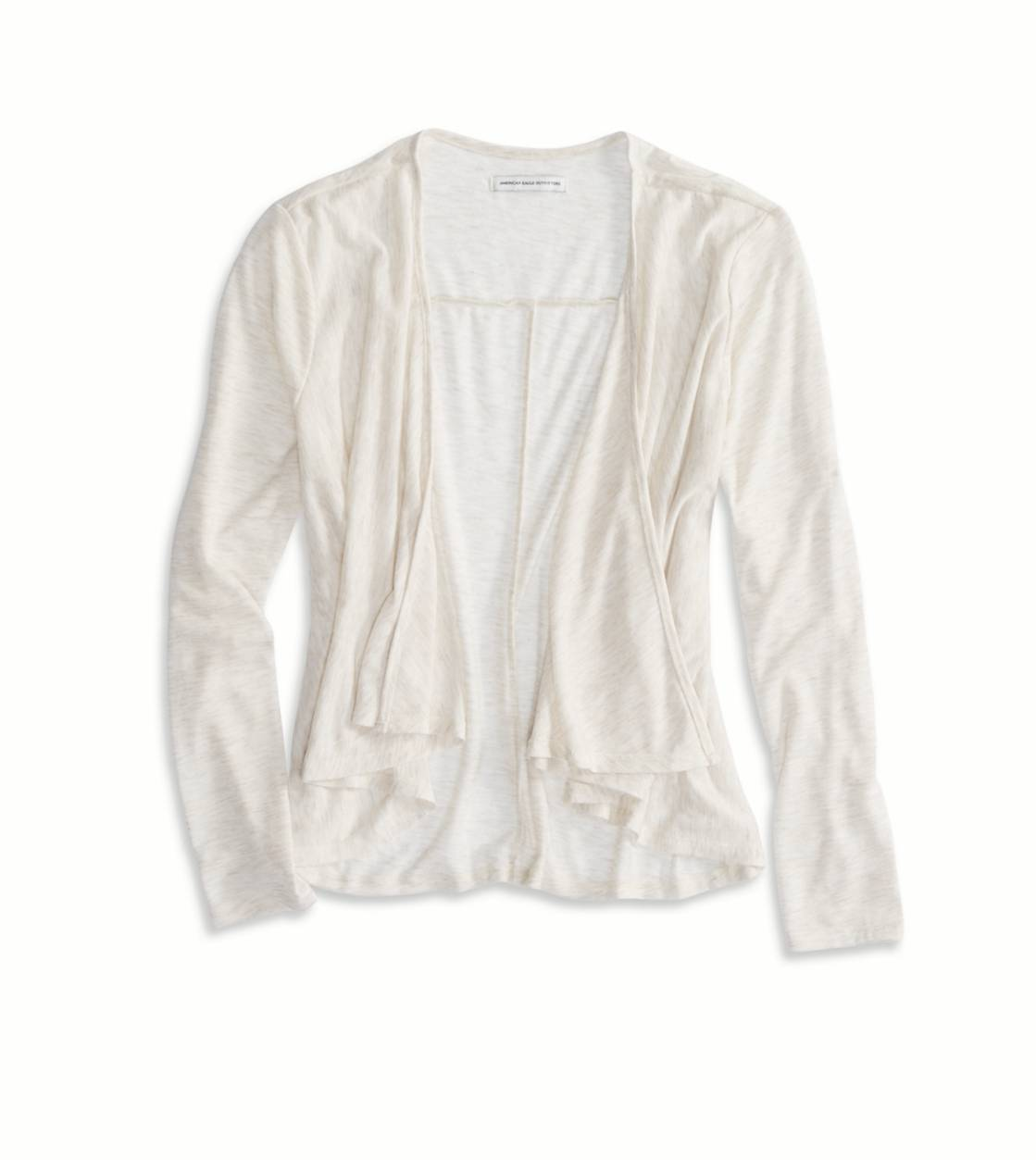 Oatmeal Heather AE Waterfall Cardigan