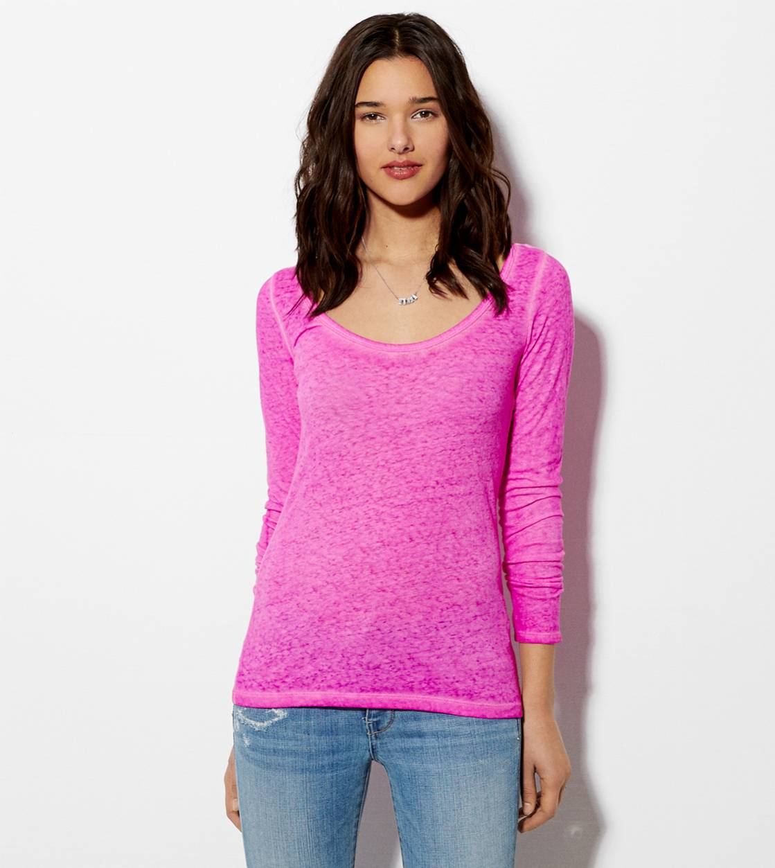 Magenta AE Favorite Long Sleeve T-Shirt