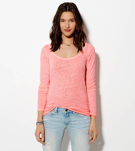 Coral Burst AE Favorite Long Sleeve T-Shirt