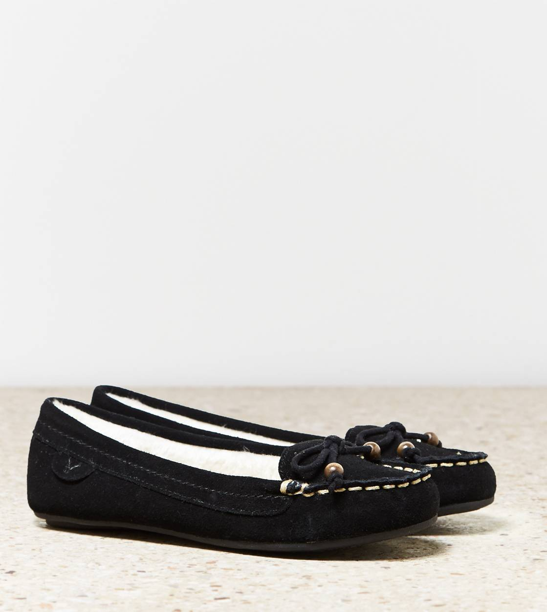 Black AEO Bow Moccasin