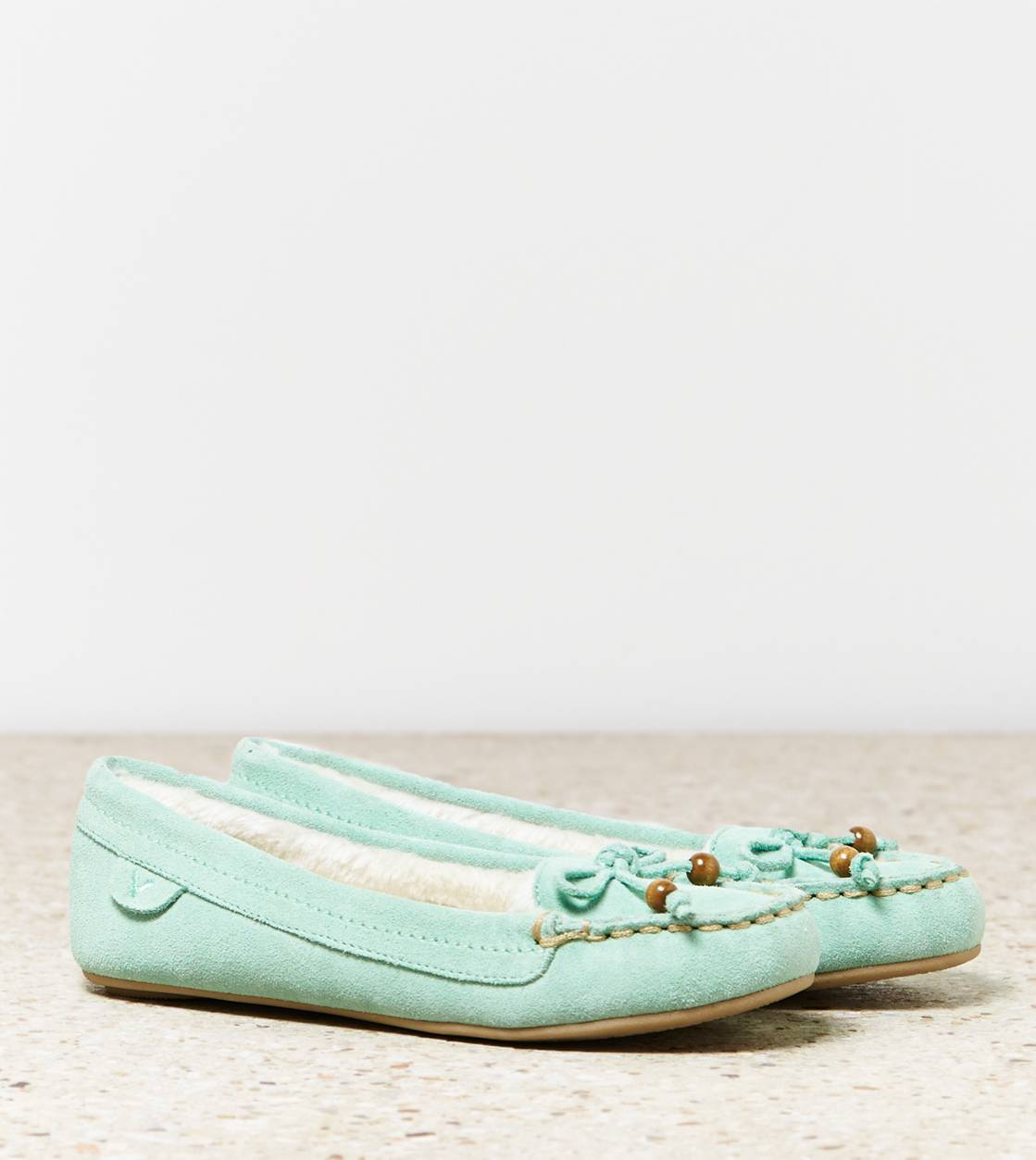 Mint AEO Bow Moccasin