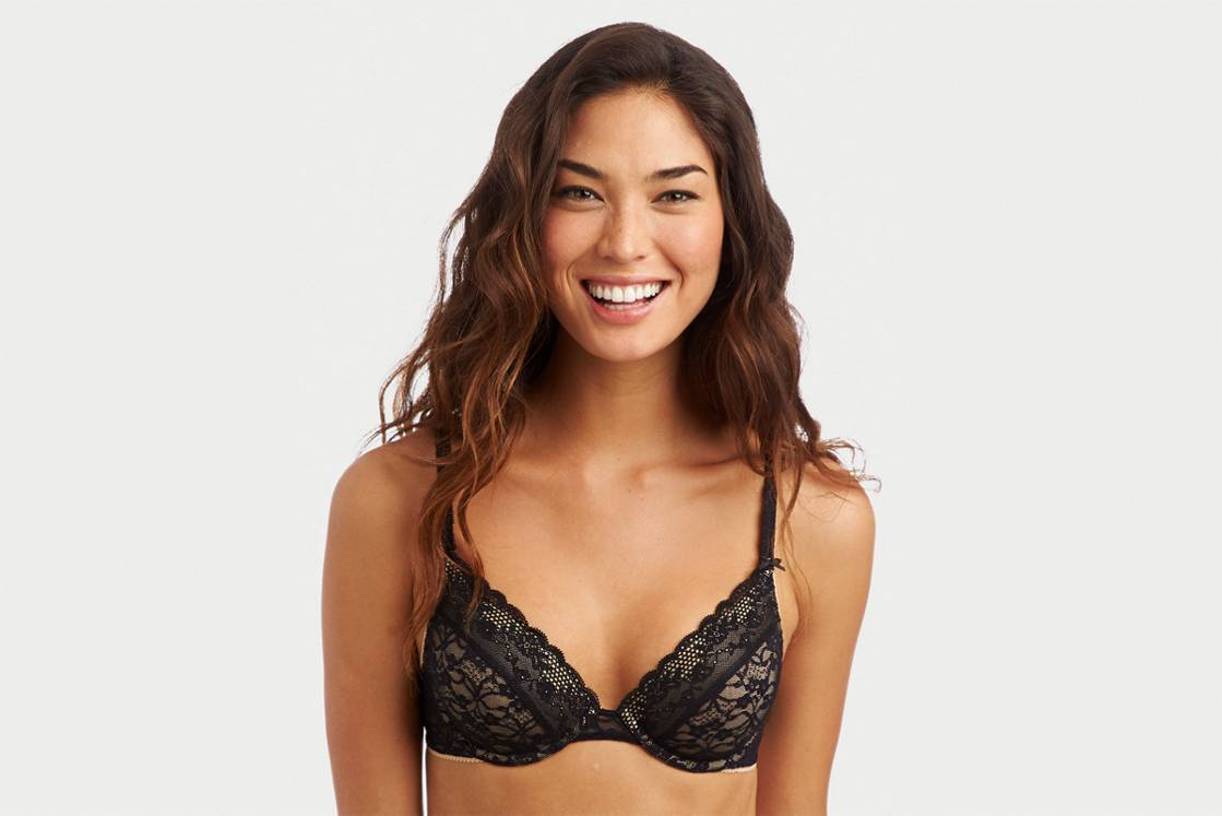 True Black Katie Vintage Lace Lightly Lined Bra