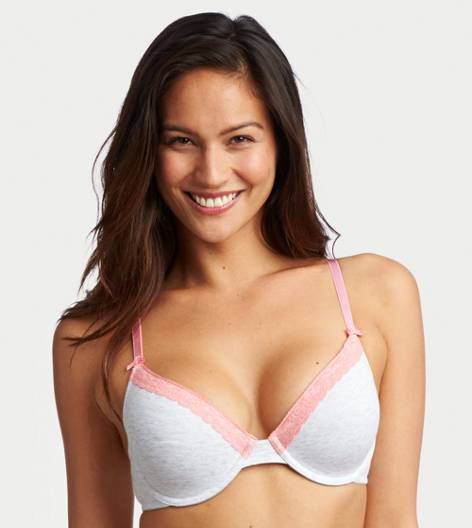 Light Heather Grey Katie Cotton Lightly Lined Bra