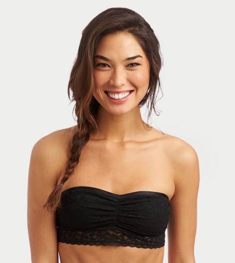 True Black Aerie Signature Lace Bandeau