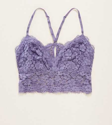 Aerie Romantic Lace Longline Bralette - Free Shipping & Returns