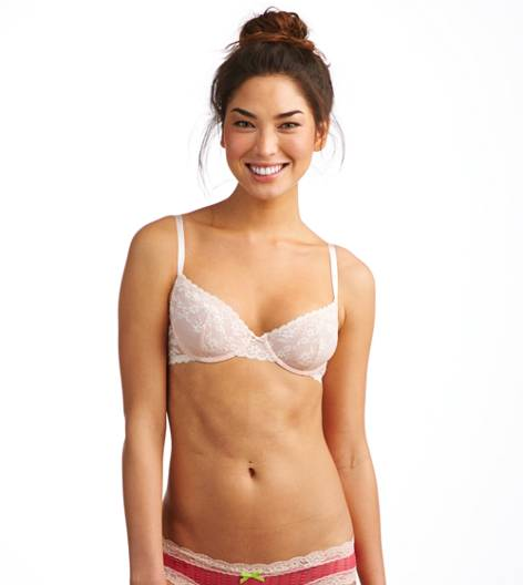 Buff Aerie Lace Unlined Bra