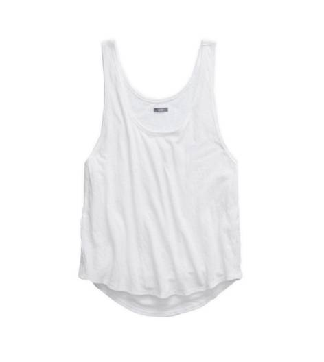 White  Aerie Side Lace Swing Tank