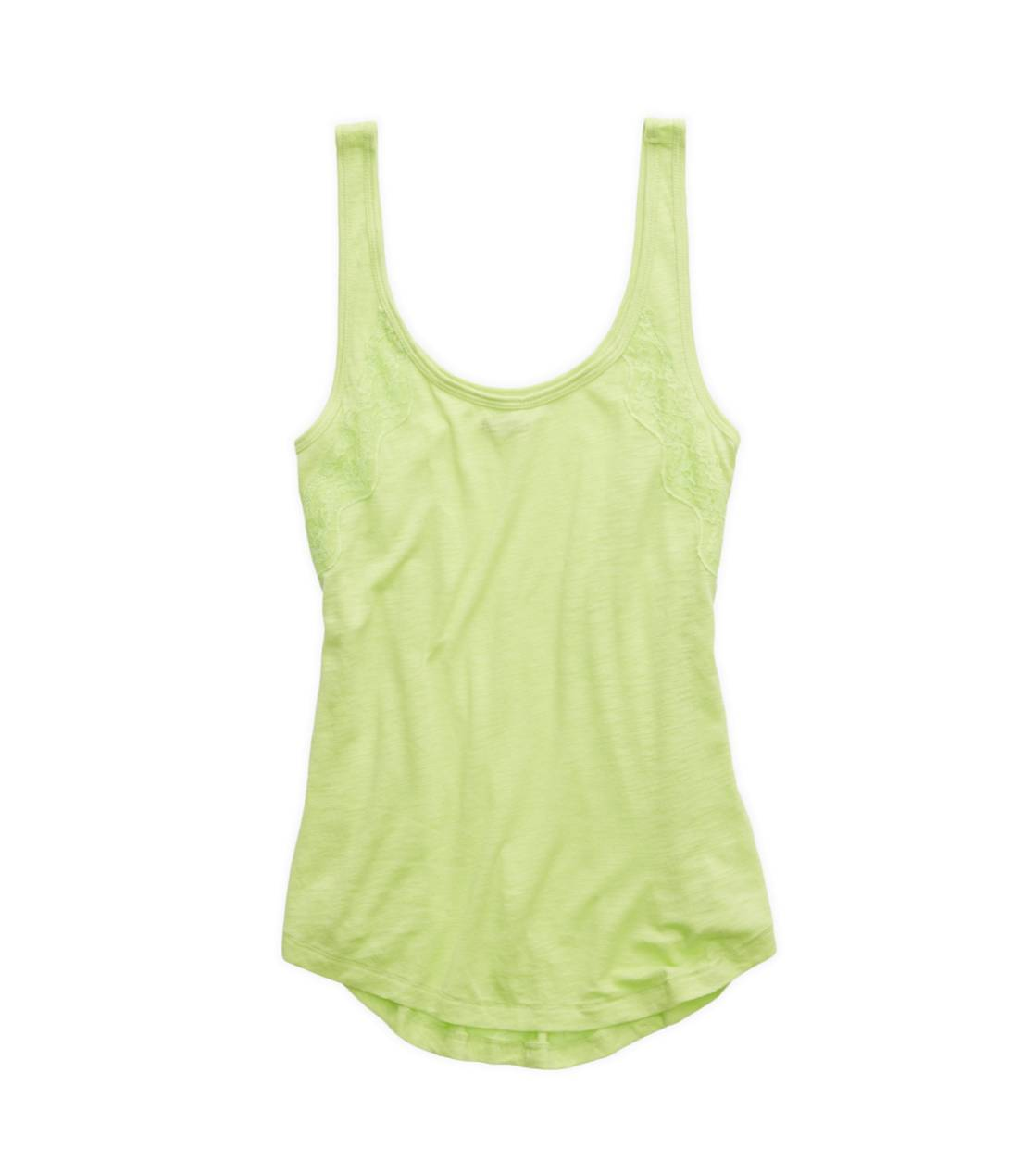 Sharp Green Aerie Lacey Tank