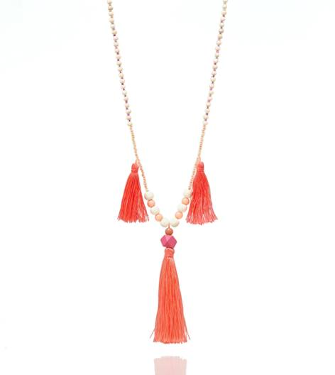 Beach Towel Aerie Three Tassel Necklace