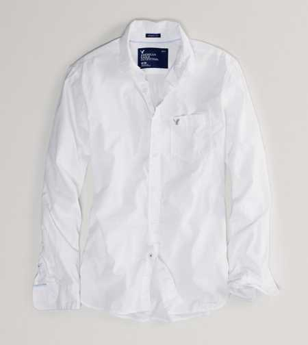 AE Solid Poplin Shirt - Athletic Fit