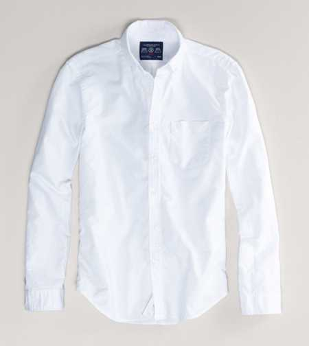 AE Solid Oxford Shirt - Slim Fit