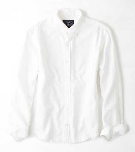 AEO Solid Oxford Button Down