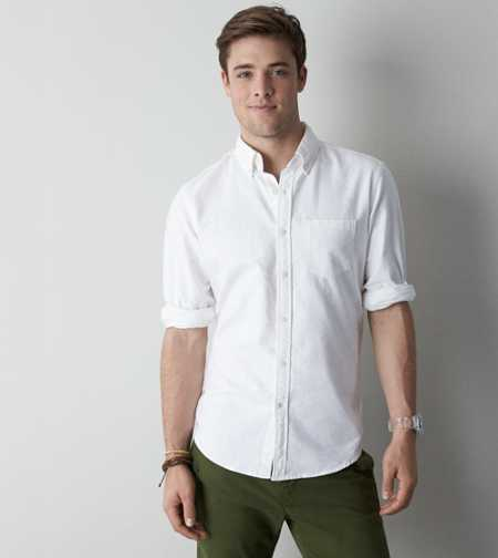 AE Striped Oxford Button-Down - Slim Fit
