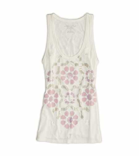 AE Metallic Floral Burnout Tank
