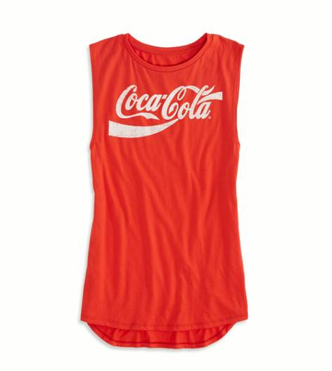 Red AE Coca-Cola Graphic Muscle Tank