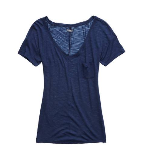 Odyssey Blue Aerie Slim Fit V-Neck Pocket T-Shirt