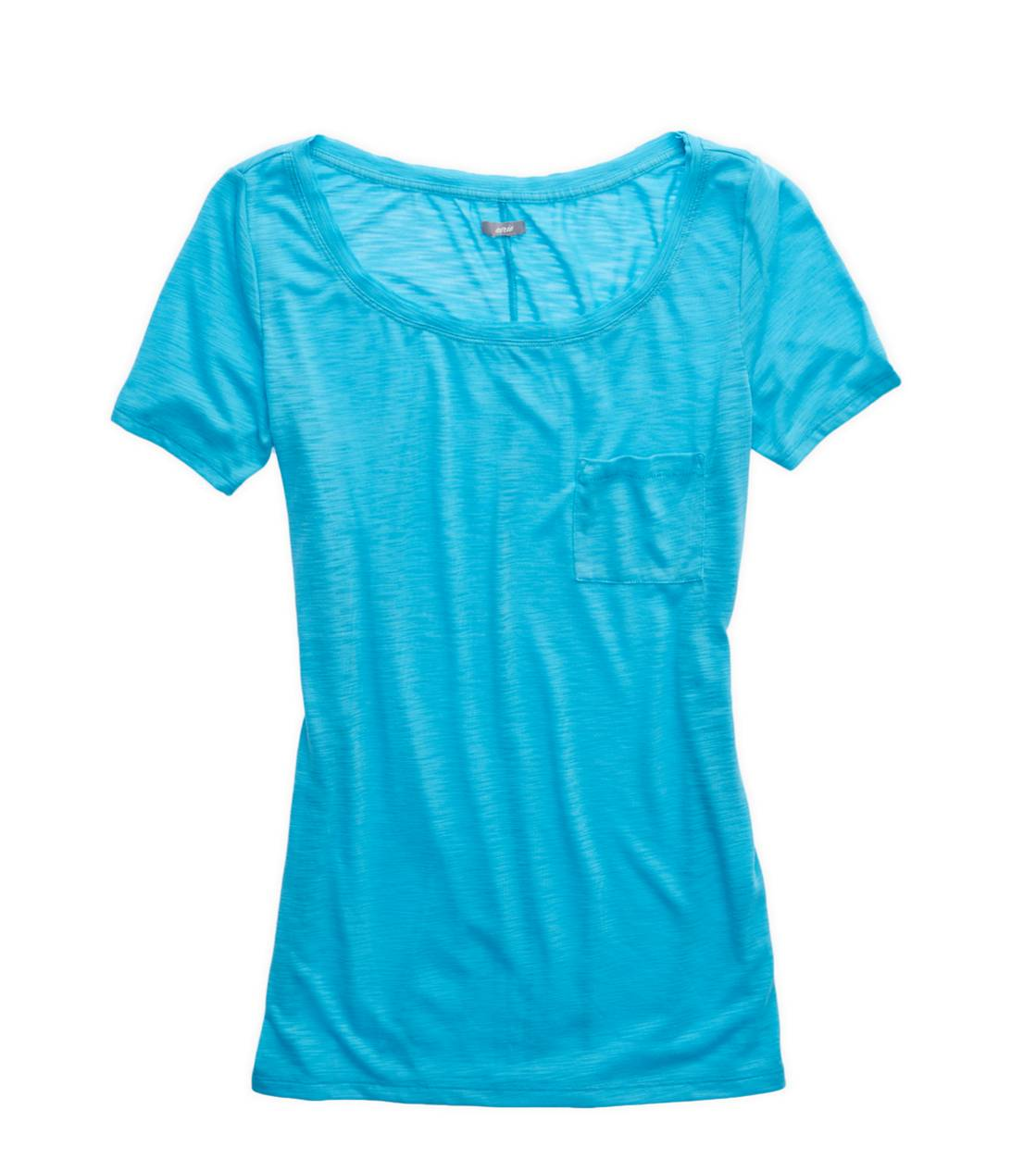 Primal Aerie Slim Fit Scoop Neck Pocket T-Shirt