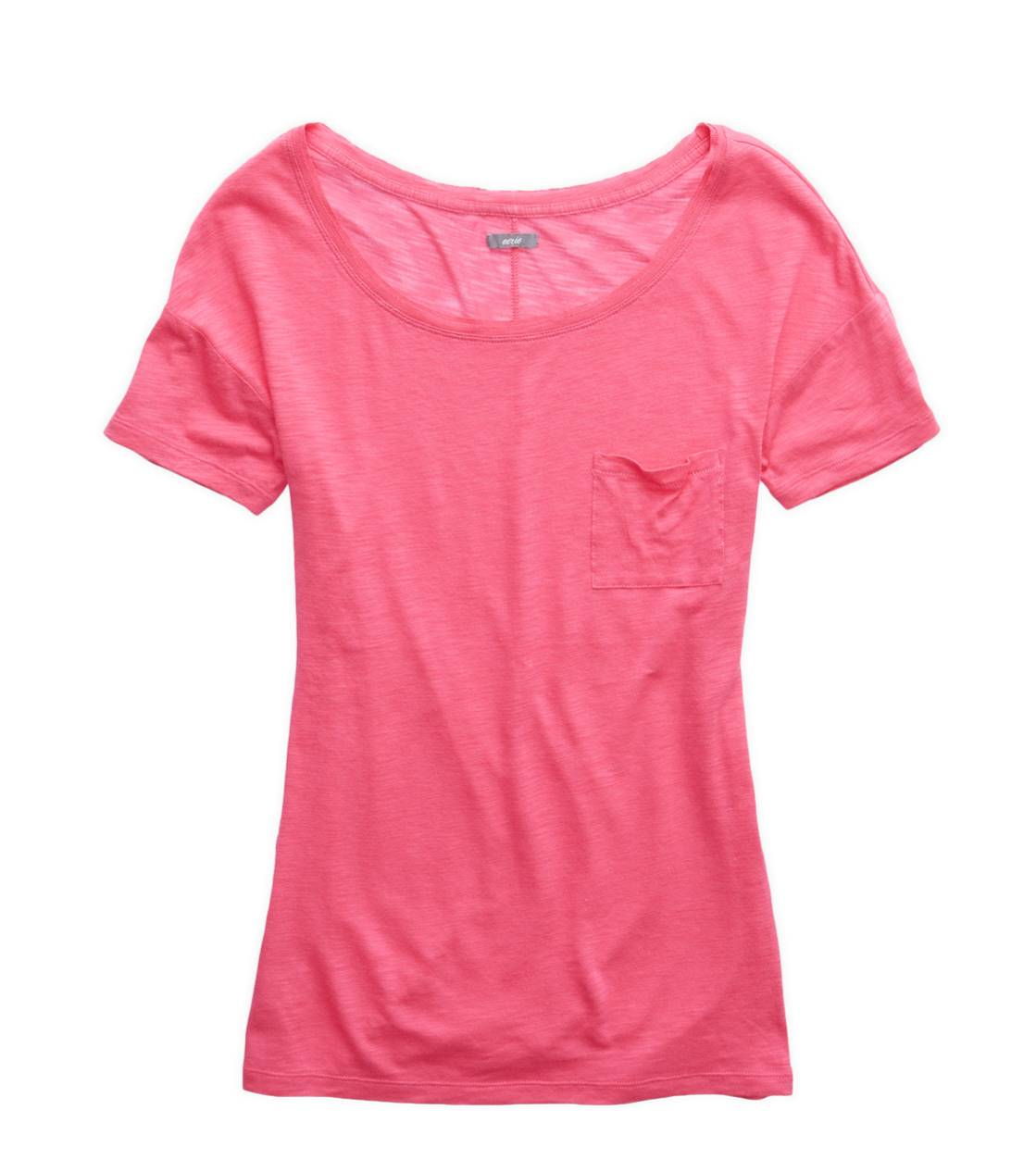 Sweetheart Aerie Slim Fit Scoop Neck Pocket T-Shirt