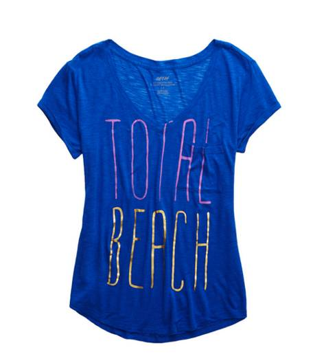 Cobalt Shade Aerie Graphic Boyfriend T-Shirt