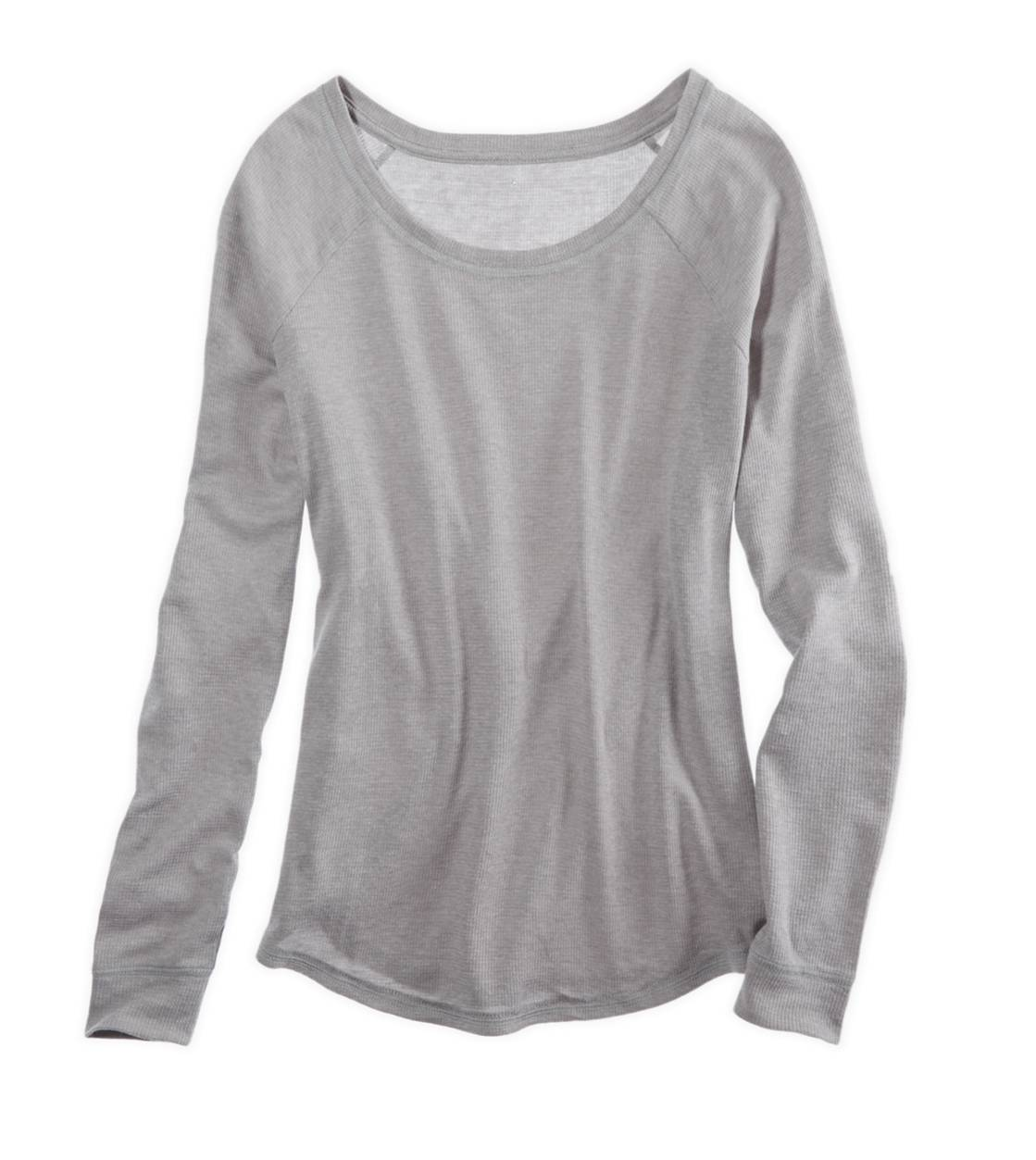 Medium Heather Grey Aerie Waffle Dolman T-Shirt